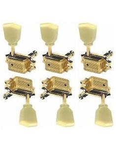 Meccaniche per chitarra tipo Les Paul Wilkinson dorate bottone yellow cream