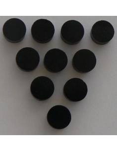 set di 10 dot segna posizione neri black per chitarra elettrica acustica basso