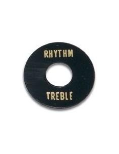 Piastra selettore tipo Les Paul nero scritta oro treble/rhythm