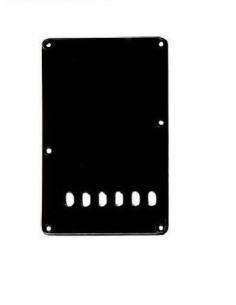 BACKPLATE COPRIMOLLE PER FENDER  STRATOCASTER BLACK NERO COPRI MOLLE P-104 10,5