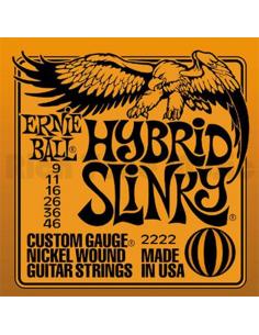 3 Mute di corde Ernie Ball 2222 Hybrid Slinky per chitarra elettrica 9/46