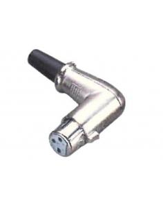 GEWA Connettore Alpha Audio XLR F angolare per impianti cavi