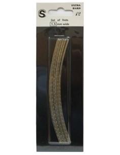 12 stecche tasti pretagliati curvi da 13 cm Small per basso o chitarra
