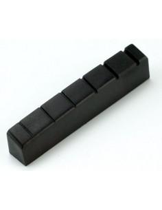 Capotasto nero per chitarra tipo Gibson in grafite 4.3x0.8x0.5 cm