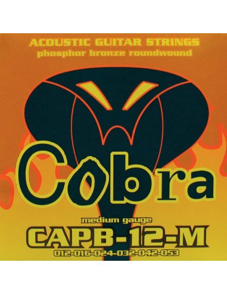 Muta set di corde chitarra acustica Cobra 12 53 capb-12-m phosphor bronze light