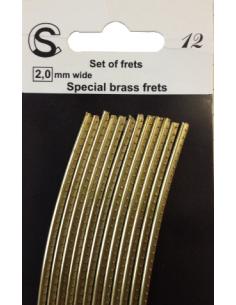 12 stecche da 13 cm tasti frets pretagliati curvi per chitarra Ottone Medium Special Brass sb215100s