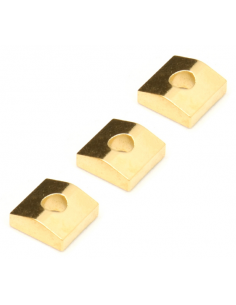 Set 3 blocchetti per ponte bridge floyd gold dorati locking nut FR-NCBg