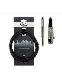 cavo gewa canon xlr (f) jack 6 metri microfono professionale 190065