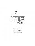 Abbassacorde set tendicorda cilindrici cromato per chitarra elettrica stratocaster Gotoh rg30c s829s