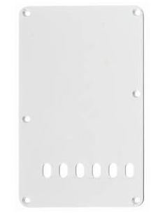 BACKPLATE COPRIMOLLE PER FENDER STRATOCASTER WHITE BIANCO COPRI MOLLE P-104 W 10,5