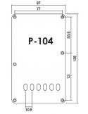 BACKPLATE COPRIMOLLE PER FENDER STRATOCASTER WHITE BIANCO COPRI MOLLE P104w 10,5