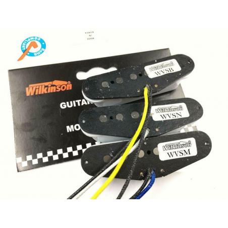 Set di 3 pick up Wilkinson single coil per Fender Stratocaster Alnico 5