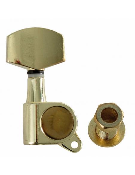 Set Meccaniche Per Chitarra Elettrica Acustica 3+3 Gold Dorate SMH-W-G-3L3R