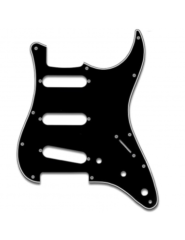 Battipenna Chitarra Elettrica Fender Stratocaster Nero 3 Strati SP-3B
