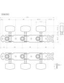 Meccaniche Chitarra Classica GOTOH L1 + R1 Nickel 35G350N